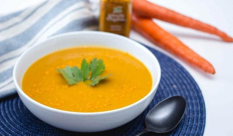 Soupe Detox aux carottes et Curcuma