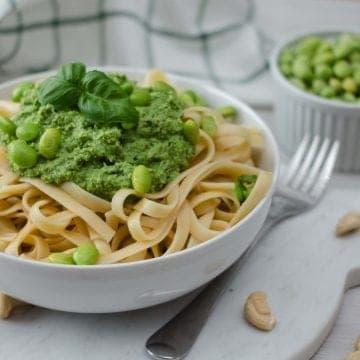 Pâte avec Pesto d'Edamame