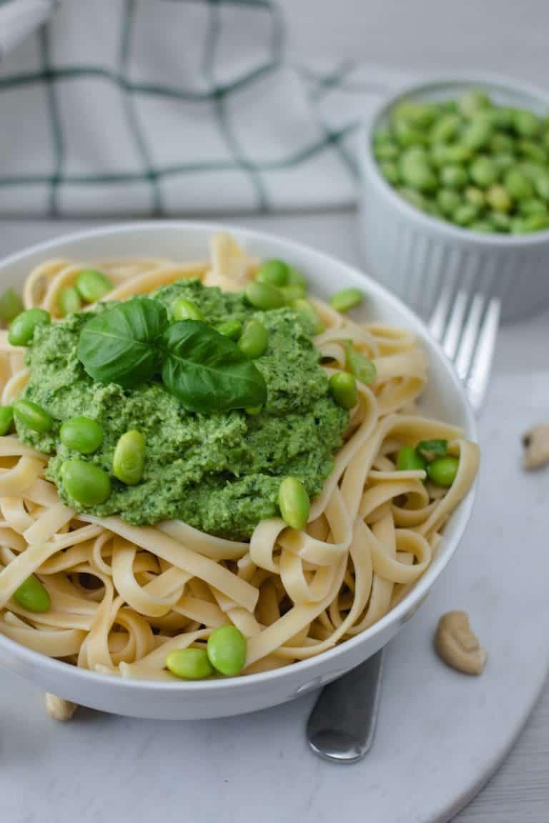 Pasta with Edamame Pesto