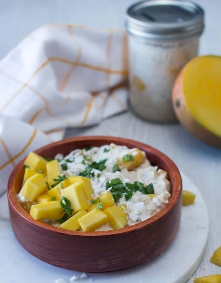 Mango and Coconut Overnight Oatmeal