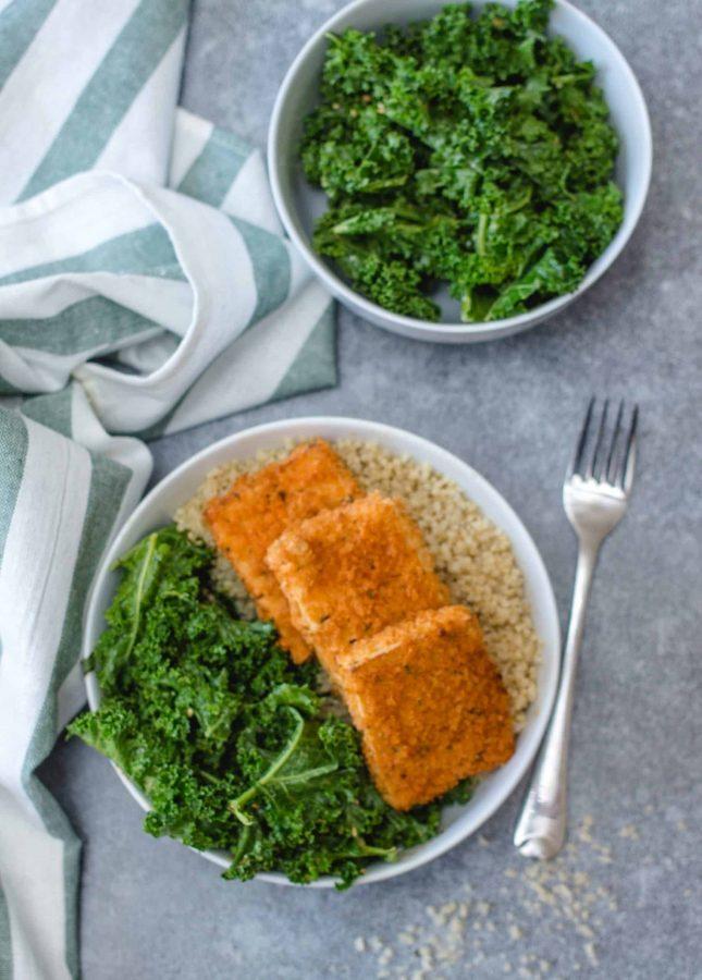 Crispy Tofu Buffalo Sauce