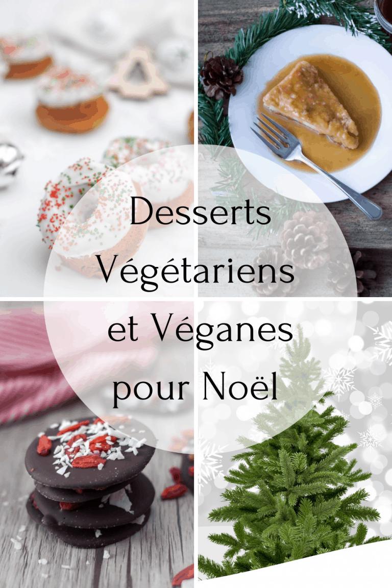 desserts végétariens et véganes pour Noël