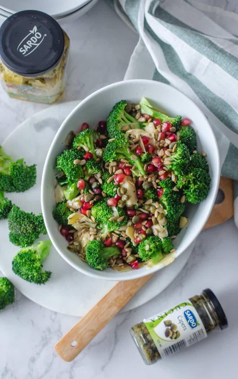 salade de brocoli et artichauts