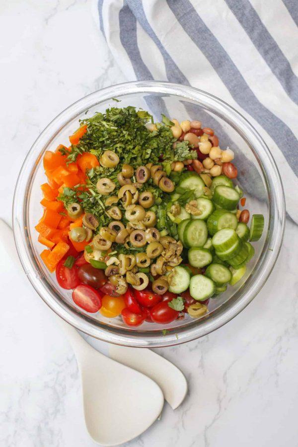 Salade de Légumineuses et Légumes du Jardin