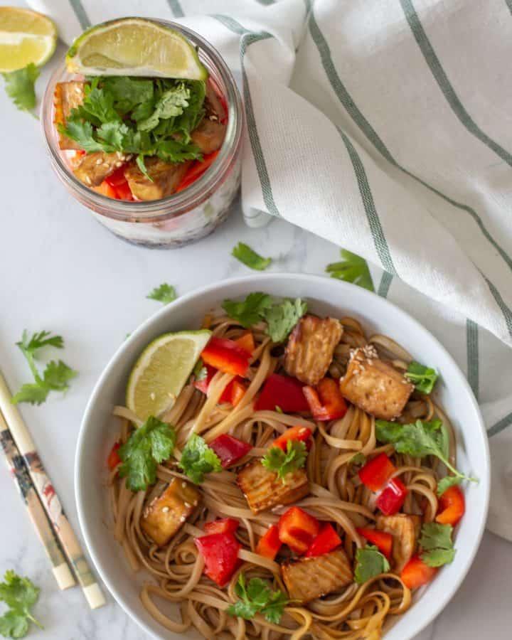 Asian Noodle in Mason Jar