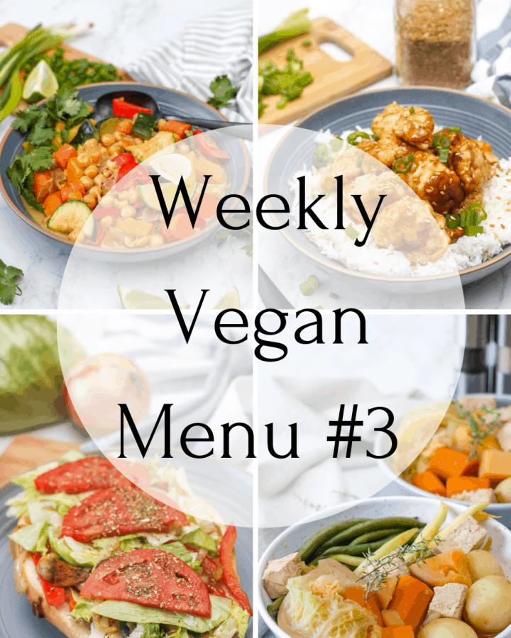 Weekly Vegan Recipes