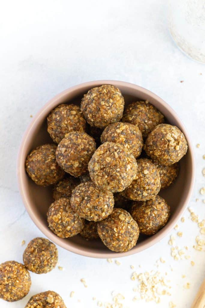 Close up of the energy balls