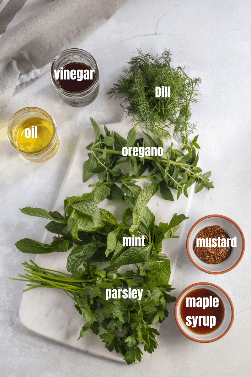 all the ingredients you need to make the dressing